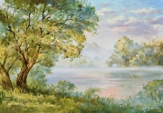 Утренний пейзаж с Ангелом. (2017 г) 50х70 (холст, масло)_54
